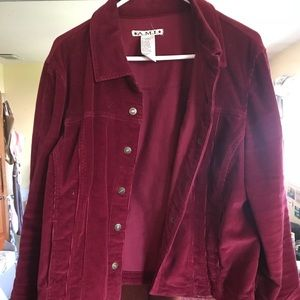 Vintage Red Corduroy Jacket